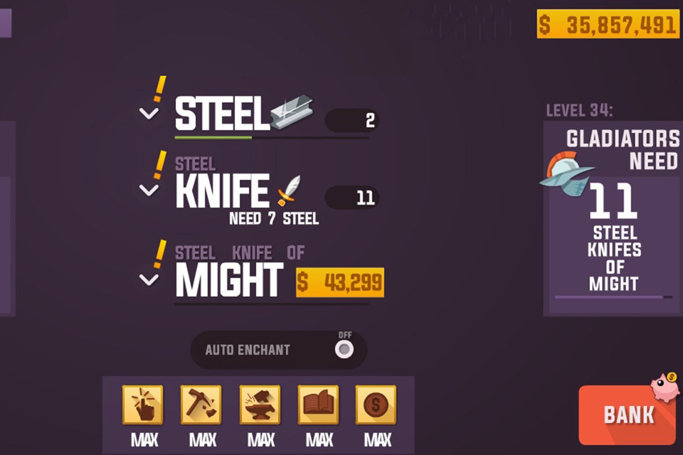 Blacksmith Lad Idle Game Play 1