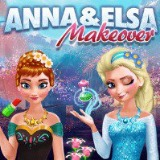Anna and Elsa Makeover - Free  game