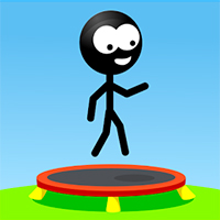 Stickman Trampoline Game
